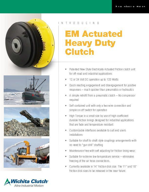 EM Actuated Heavy Duty Clutch