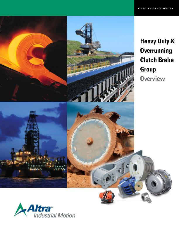 Heavy Duty & Overrunning Clutch Brake Group Overview